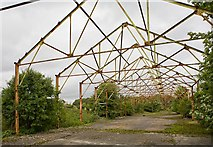 SU4627 : Remains of steel-framed buildings at Bushfield Camp by Peter Facey