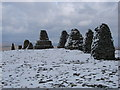 NY8206 : Icy Day up at Nine Standards Rigg by Ed Jennings