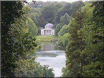 ST7734 : Stourhead, The Pantheon and the Lake through gap in the trees by Roger