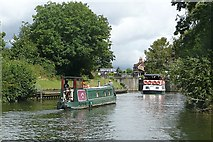 SU9974 : Approaching Old Windsor Lock by Graham Horn