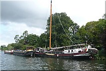 SU9973 : Barges at Old Windsor by Graham Horn