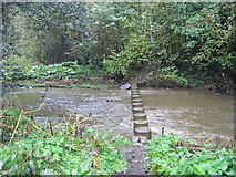NZ0161 : Stepping stones across a stream by Ed Jennings