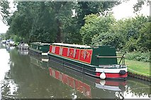 TQ0562 : Linear moorings above New Haw Lock by Graham Horn