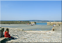 SW5130 : Harbour on St Michael's Mount by Dave Green