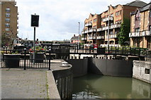 TQ3680 : Limehouse Lock by Dr Neil Clifton