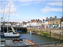 NO5603 : Anstruther Harbour and Shore Street by Richard Law