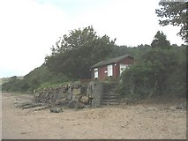 SH5580 : A chalet overlooking Llanddona beach by Eric Jones