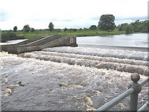 NZ2513 : Weir on the Tees by Antonia