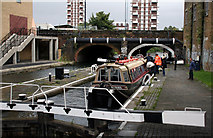 TQ3681 : Regent's Canal, Commercial Road Lock No 12 by Dr Neil Clifton