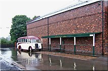 SO9491 : Trolleybus & Tramway Stop, Black Country Living Museum by P L Chadwick