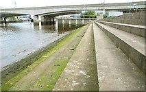 J3474 : Steps, Queen's Quay, Belfast by Albert Bridge