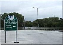 SJ9223 : Floods, Kingsmead car park by Simon Huguet