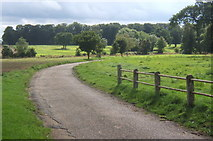 TF9705 : Driveway and grounds at Letton Hall Christian Centre by Andrew Hill