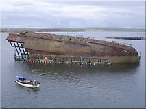 ND4798 : Blockship near Churchill Barrier No. 3 by Nick Mutton