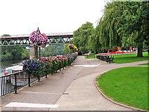 SO8455 : Le Vesinet Promenade looking towards railway viaduct by P L Chadwick