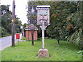 TM3060 : Parham Village Sign by Adrian Cable