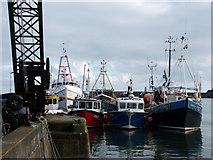 SW4628 : Fishing boats, Newlyn by Camilla Comeau