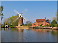 TG3623 : Hunsett Mill on the River Ant by Renata Edge