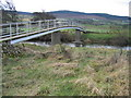 NU0401 : Bridge over River Coquet with Simonside Hills in background. by Ed Jennings