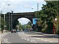 SE1538 : Railway bridge over Otley Road by Stephen Craven