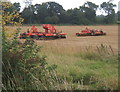 TM1650 : Field and farm machinery by the track to Dameron's Farm by Andrew Hill