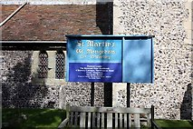 TR3451 : St Martin, Great Mongeham, Kent - Notice board by John Salmon