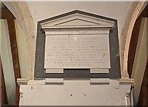 TR3451 : St Martin, Great Mongeham, Kent - Wall monument by John Salmon