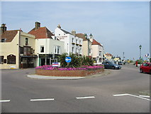 TR3752 : The roundabout on the A258 on Deal seafront by Nick Smith