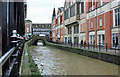 SK9771 : River Witham, Lincoln by Peter Church
