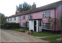 TM0850 : Cottages near High Hall Farm by Andrew Hill
