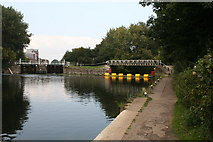 TQ3783 : Lee Navigation:  Old Ford Locks and entrance to Old River Lea by Dr Neil Clifton