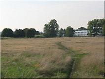 TQ4277 : Woolwich Common: footpath to the hospital by Stephen Craven