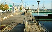 J3474 : Between the bridges, Belfast (2) by Albert Bridge