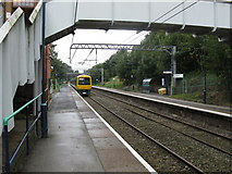 SP1090 : Longbridge train leaving Gravelly Hill station by Peter Whatley