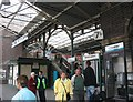 SJ4166 : Passengers arriving on Platform 7b for the 1600 Merseyrail train by Eric Jones