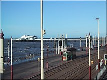 SD3036 : Tramways on the Promenade, Blackpool by Sarah Charlesworth