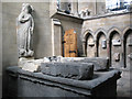 """NZ5233 : The """"Brus"""" tomb in St Hilda's by Stephen Craven"""