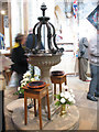 NZ5233 : Font in St Hilda's by Stephen Craven
