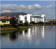 J3472 : The River Lagan near the former gasworks, Belfast by Rossographer