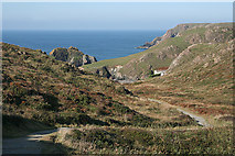 SW6813 : Landewednack: path to Kynance Cove by Martin Bodman