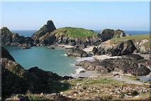 SW6813 : Landewednack: The Bishop, Gull Rock and Asparagus Island by Martin Bodman