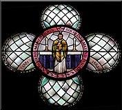 TQ3480 : St Peter's London Docks, Wapping Lane - Window of Fr Suckling by John Salmon