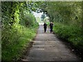 NY4560 : Walkers on Hadrian's Wall National Trail by Oliver Dixon