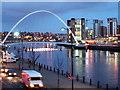 NZ2563 : Millennium Bridge, Gateshead, Newcastle by Peter Barr