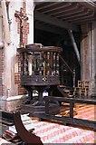 TQ3480 : St Peter's London Docks, Wapping Lane - Pulpit by John Salmon