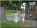 SO2593 : Old Petrol Pumps on B4385/A489 Junction by Tim Marshall