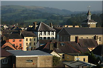 SN7634 : Rooftops of Llandovery by Philip Halling