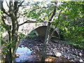 NY8548 : Corn Mill bridge over the River East Allen by Mike Quinn