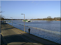 SO8455 : Worcester Racecourse under water by Mark Nightingale