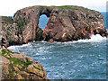 NK1037 : Dunbuy rock arch by Alan Findlay
